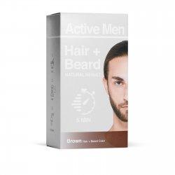 Active Men Skägg- och hårfärg – Brun