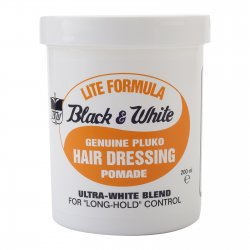 Black and White Hair Dressing Pomade Lite Formula