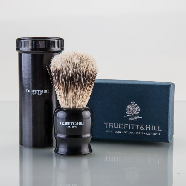 Truefitt & Hill Tube Traveller Shaving Brush Ebony