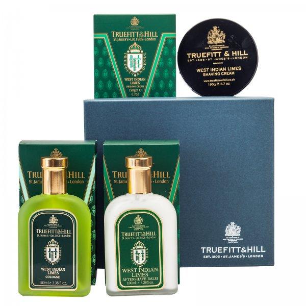 Truefitt & Hill Classic Gift Set West Indian Limes: Bowl, Balm, Cologne