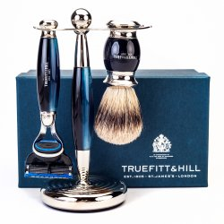 Truefitt  Hill Edwardian Shaving Set - Blue Opal (Gillette Mach3)