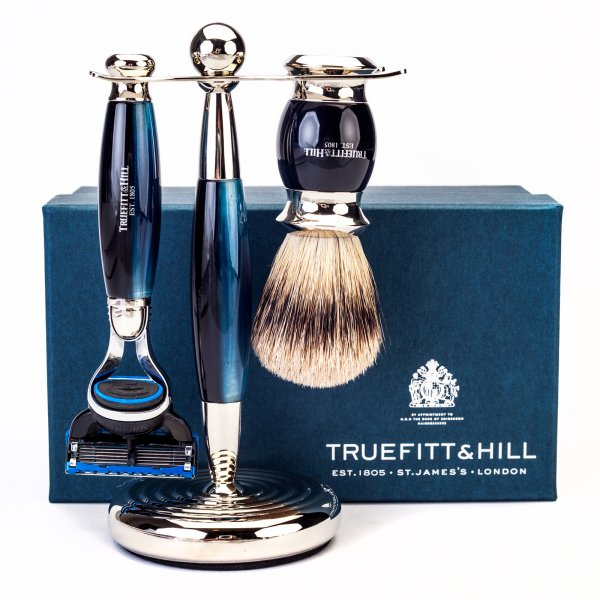 Truefitt & Hill Edwardian Shaving Set - Blue Opal