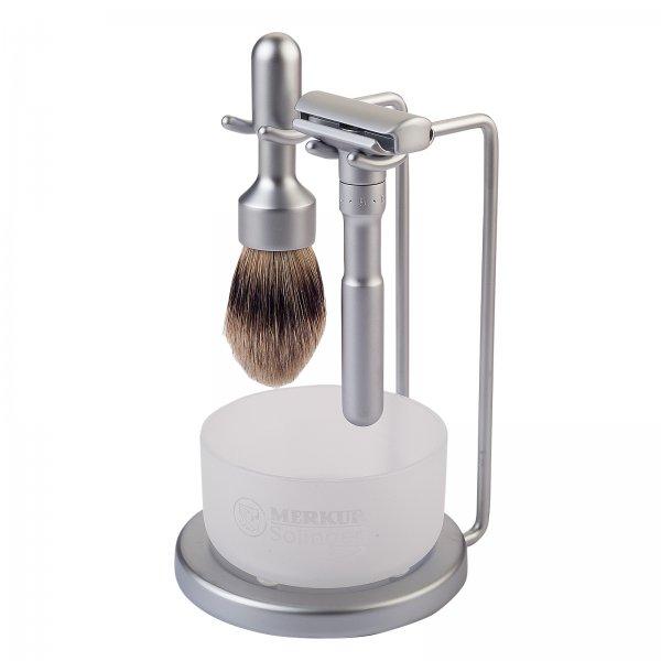 Merkur Futur 700 4-Piece Shave Set - Satin Finish