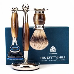 Truefitt  Hill Edwardian Shaving Set - Horn (Gillette Mach3)