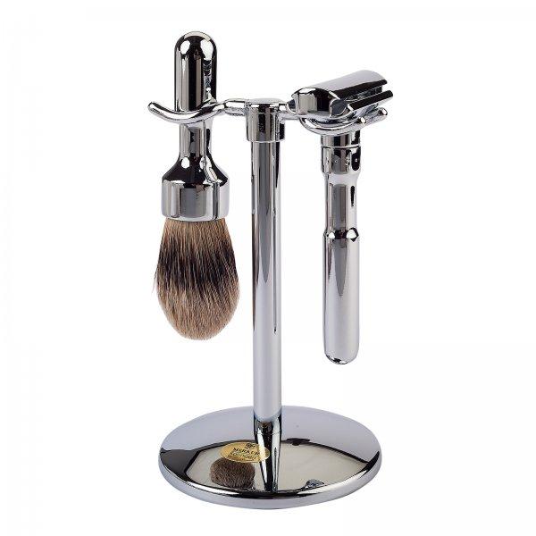 Merkur Futur 700 Shaving Set Polished Crome 3 pieces