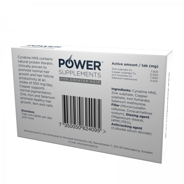 Power Supplements 500 mg – promotes hair follicle productivity