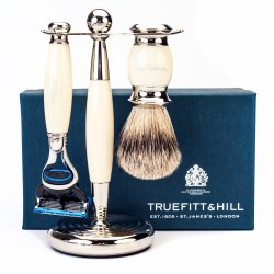 Truefitt  Hill Edwardian Shaving Set - Ivory (Gillette Mach3)
