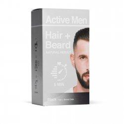 Active Men Skägg- och hårfärg – Svart