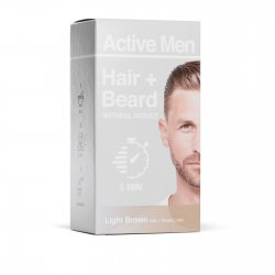Active Men Skägg- och hårfärg – Ljusbrun
